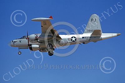 P-2USN 00074 A landing Lockheed SP-2H Neptune USN 14469 VP-69 TOTEMS PJ code 9-1973 military airplane picture by Michael Grove, Sr