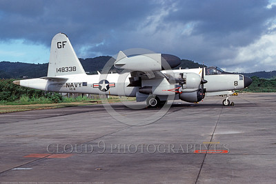 P-2USN-VC-8 001 A static Lockheed P-2H Neptune USN 148338 VC-8 REDTAILS GF code Roosevelt Roads 1975 military airplane picture by Hollis Carney     DONEwt