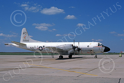 P-3USN 00065 A static Lockheed P-3 Orion USN 158210 VP-47 GOLDEN SWORDSMEN Andrews AFB 8-1996 military airplane picture by Barry E Roop