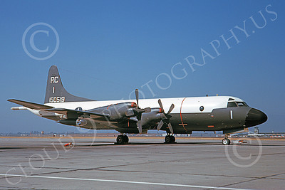 P-3USN 00063 A static Lockheed P-3 Orion USN 150519 VP-46 GRAY KNIGHTS 8-1963 military airplane picture by Clay Jansson