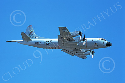 P-3USN 00050 A flying Lockheed P-3 Orion USN 159893 VP-46 GRAY KNIGHTS 1-1979 military airplane picture by Michael Grove, Sr