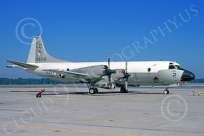 P-3USN 00051 A static Lockheed P-3 Orion USN 156516 VP-56 DRAGONS LQ code 3-1974 military airplane picture by L B Sides