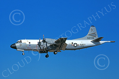 P-3USN 00052 A landing Lockheed P-3 Orion USN VP-62 BROAD ARROWS 8-1981, by Michael Grove, Sr