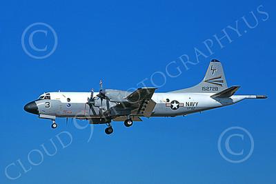P-3USN 00052 A landing Lockheed P-3 Orion USN VP-62 BROAD ARROWS 8-1981, by Michael Grove, Sr