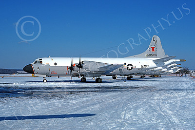 P-3USN 00069 A static line up of Lockheed P-3 Orions USN 150506 VP-66 THE LIBERTY BELLS 2-1976 military airplane picture by Thomas Sessions