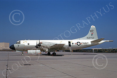 P-3USN 00055 A static Lockheed P-3 Orion USN 152753 VP-46 GRAY KNIGHTS NAS Moffett 5-1969 military airplane picture by Peter B Lewis