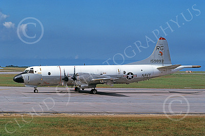 P-3USN 00061 A taxing Lockheed P-3 Orion USN 159893 VP-46 GRAY KNIGHTS 9-1982 military airplane picture by Kevin Thompson