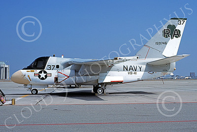 S-3USN 00029 A static Lockheed S-3 Viking USN 159746 VS-41 SHAMROCKS NAS Moffett 10-1976 military airplane picture by Michael Grove, Sr