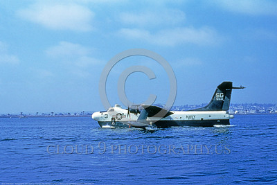 P5M-USN 017 A water taxing Martin P5M Marlin USN 5531 VP-50 BLUE DRAGONS San Diego 4-1980 military airplane picture by Clay Jansson     DONEwt