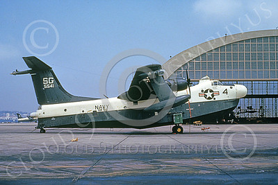 P5MUSN 00019 A static Martin P5M Marlin USN 5541 VP-50 BLUE DRAGONS NAS North Island 4-1980 military airplane picture by Clay Jansson