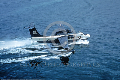 P5MUSN 00015 A water taxi Martin P5M Marlin USN 5534 VP-42 SEA DEMONS 4-1980 military airplane picture by Clay Jansson