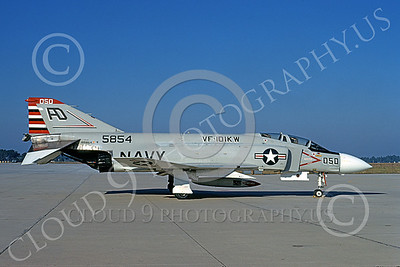 F-4USN 00861 A static McDonnell Douglas F-4J Phantom II US Navy 155854 VF-101 KW GRIM REAPERS  11-1973 military airplane picture by L B Sides