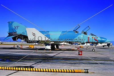 EE-F-4USN 006 A static blue cam McDonnell Douglas F-4S Phantom II USN jet fighter 155896 VX-4 THE EVALUATORS NAS Pt  Mugu 1-1973 by Stephen W  D  Wolf     BBB_3644     DoneWT