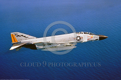 F-4II-USN-VF-33 0002 A flying McDonnell Douglas F-4J Phantom II USN jet figter 153864 VF-33 TARSIERS USS America AE tail code 3-1968, military airplane picture by Thomas Van Buren via S W D  Wolf coll     853_4603     DoneWT