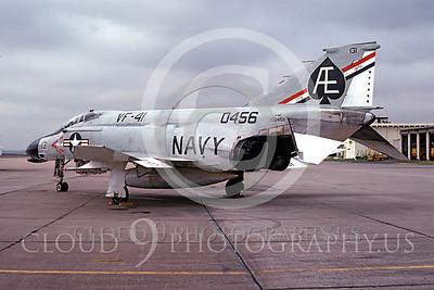BICEN-F-4 00005 McDonnell Douglas F-4 Phantom II VF-41 NAS Miramar 11 Oct 1975 by Peter B Lewis