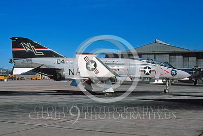 BICEN-F-4 00011 McDonnell Douglas F-4 Phantom II VF-51 NAS Miramar 1976 by Peter J Mancus