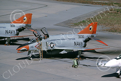 F-4USN 00032 A static sharkmouth McDonnell Douglas QF-4 Phantom II US Navy 153030 NAS Pt  Mugu 10-1999 military airplane picture by Michael Grove, Sr