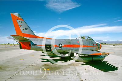 F-86-USN 00005 QF-86F Sabre Fallon July 1990 by Peter J Mancus