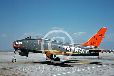 FJ-4USN 00001 North American FJ-4 Fury VU-7 March 1960 by Clay Jansson