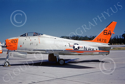 FJ Fury USN 00016 A static DAGLO marked USN North American FJ-4B Fury 1478 7-1963 military airplane picture by Clay Janson