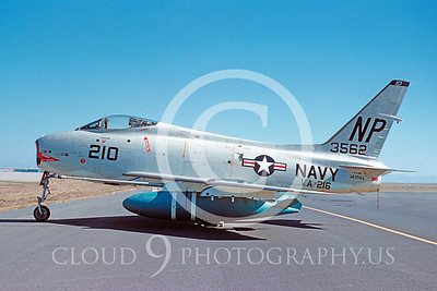 FJ-4USN 00011 North American FJ-4 Fury VA-216 Sept 1959 by William T Larkins