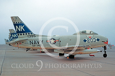 FJ-4USN 00013 North American FJ-4 Fury VF-142 10 Aug 1957 by William T Larkins