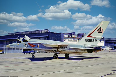 RA-5C-RVAH-1 001 A static North American RA-5C Vigilante, USN supersonic recon aircraft, 156622, RVAH-1 SMOKIN TIGERS, 4-1973 Northfolk, military airplane picture by Stephen W  D  Wolf coll    CCC_0936   Dt