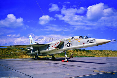 RA-5C-RVAH-14 001 A static North American RA-5C Vigilante, USN carrier based supersonic recon aircraft, RVAH-14 EAGLE EYES, 6-1969 Eindhoven, via Stephen W  D  Wolf coll   853_4147  Dt