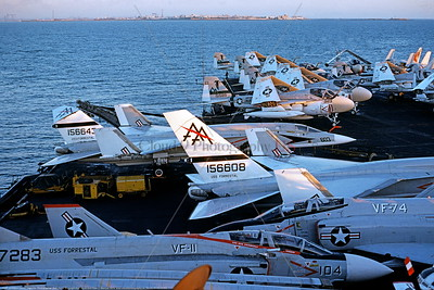 RA-5C-RVAH-6 001 A North American RA-5C Vigilante USN 156643 RVAH-6 FLEURS on the USS Forrestal 8-1974 military airplane picture by Bud Joyce     DONEwt