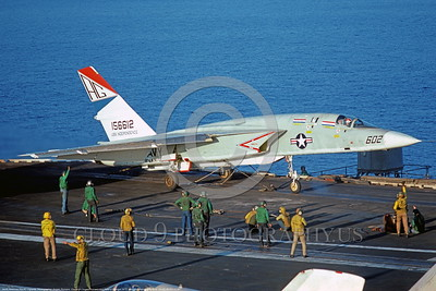 RA-5C-RVAH-12 001 A North American RA-5C Vigilante USN 156612 RVAH-12 SPEARTIPS on USS Independence 8-1977 military airplane picture by Angelo Romano     DONEwt