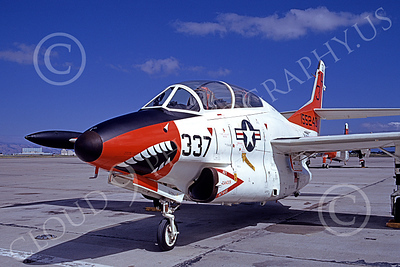 T-2USN 00023 A static sharkmouth North American Aviation T-2C Buckeye USN 155240 3H code 6-1973 military airplane picture by Michael Grove, Sr