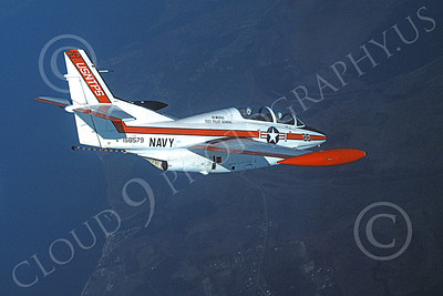 T-2USN 00010 A flying North American Aviation T-2C Buckeye USN 158579 USNTPS 10-1987 military airplane picture by Robert L Lawson