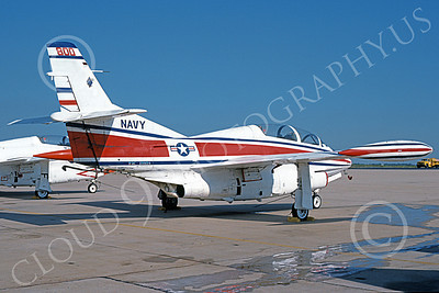 T-2USN 00025 A static rare color scheme North American Aviation T-2C Buckeye USN 159154 NAF Washington 6-1987 military airplane picture by Aaron Bradley