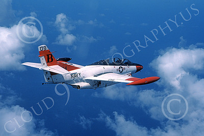 T-2USN 00016 A flying North American Aviation T-2C Buckeye USN VT-23 PROFESSIONALS B code 7-1982 jet trainer military airplane picture by Robert L Lawson