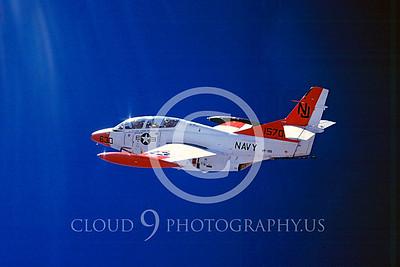 T-2 00004 North American T-2 Buckeye USN VF-126 March 1981 by Peter J Mancus