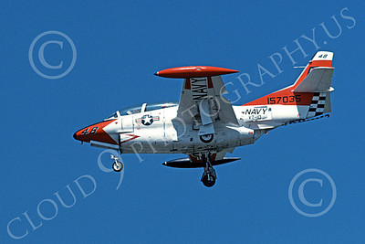 T-2USN 00020 A landing North American Aviation T-2 Buckeye jet trainer USN 15703 VT-10 WILDCATS 7-1977 military airplane picture by Michael Grove, Sr
