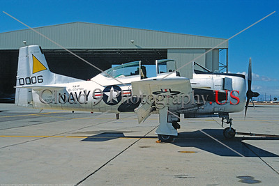 T-28USN 00001 North American T-28 Trojan 31 Jan 1975 El Centro by Peter B Lewis