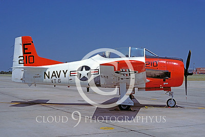 T-28USN 00013 North American T-28 Trojan VT-6 19 June 1980 by Charles E Stewart