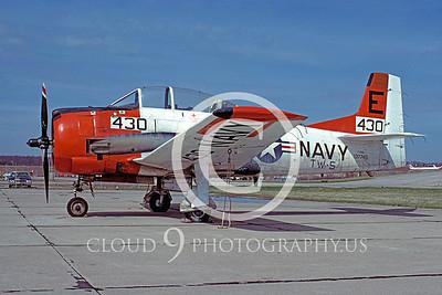 T-28USN 00011 North American T-28 Trojan TW-5 April 1978 by Peter J Mancus