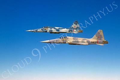 TOPG 00008 Northrop F-5E Freedom Fighter US Navy 542 TOP GUN June 1985 by Peter J Mancus