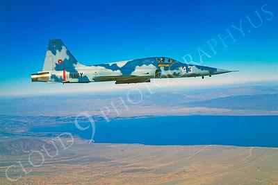 TOPG 00001 Northrop F-5E Freedom Fighter US Navy 543 TOP GUN June 1985 by Peter J Mancus