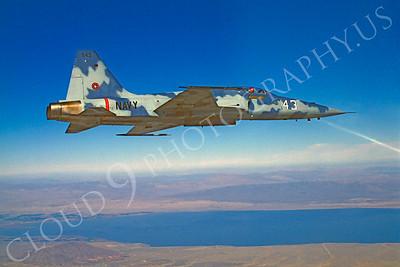 TOPG 00004 Northrop F-5E Freedom Fighter US Navy 543 TOP GUN June 1985 by Peter J Mancus