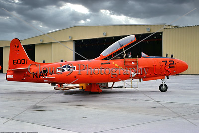 QT-33-USN 006 A static orange Lockheed QT-33A Shooting Star USN target drone, 1556001, 8-1975, NAS Pt  Mugu, military airplane picture by Stephen W  D  Wolf        BBB_8919     Dt