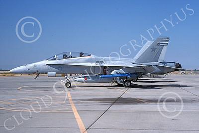 McDonnell Douglas F-18B-USN 00025 A static McDonnell Douglas F-18B Hornet USN 162408 VAQ-34 FLASHBACKS NAS Fallon 8-1993 military airplane picture by Michael Grove, Sr