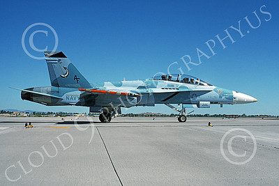 McDonnell Douglas F-18B-USN 00017 A taxing McDonnell Douglas F-18B Hornet USN 162408 VFC-12 OMARS NAS Fallon 6-1995 military airplane picture by Michael Grove, Sr