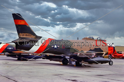 QF-86H-USN 003 A static North American QF-86H Sabre USN jet fighter drone target, 31403, 8-1975, NAS Pt  Mugu, military airplane picture by Stephen W  D  Wolf         BBB_8904     Dt