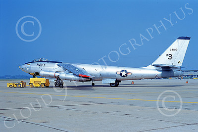 B-47USN 00007 A static Boeing B-47E Stratojet USN 24100 20 June 1973 military airplane picture by Michael Grove, Sr