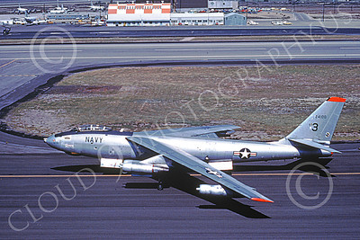 B-47USN 00006 A taxing Boeing B-47E Stratojet USN 24100 4-1978 military airplane picture by Michael Grove, Sr