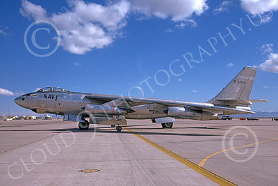 B-47USN 00002 A static Boeing B-47E Stratojet USN 32104 6-1975 military airplane picture by Michael Grove, Sr