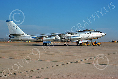 B-47USN 00004 A static Boeing B-47E Stratojet USN 624120 NAS Miramar 6 Sept 1974 military airplane picture by Peter Bergagnini